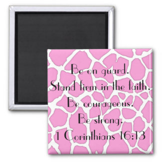 stand firm in the faith bible verse magnet