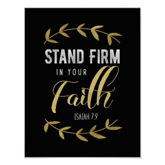 Stand Firm in Your Faith Art print