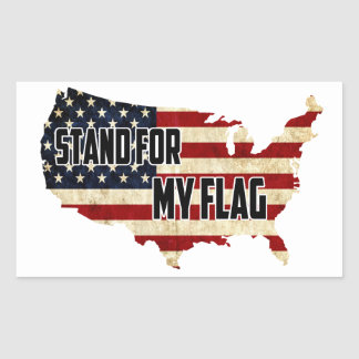Stand For My American Flag Sticker