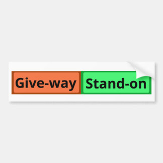 Stand on and Give Way Sticker for Sailboats