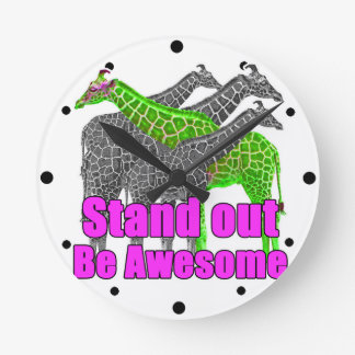 Stand out and be Awesome Wall Clocks