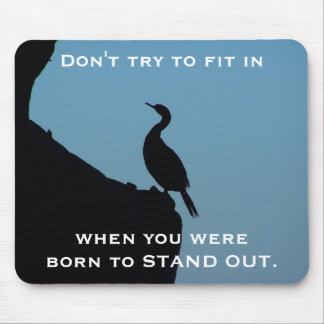 Stand Out Cormorant Mouse Pad