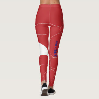 """Stand Out in Patriotic """"and BLUE"""" Leggings"""