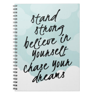 Stand Strong, Be Yourself Motivational Quote Spiral Notebook