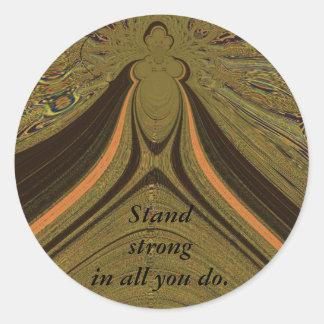 Stand Strong_ Round Sticker