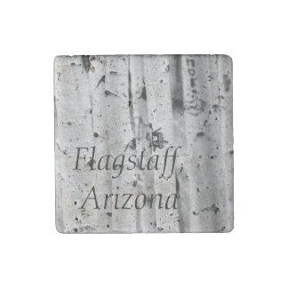 Stand tall Aspen's Flagstaff, Arizona Stone Magnet
