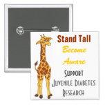 Stand Tall Giraffe  - Juvenile Diabetes Pin