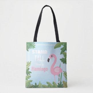 Stand Tall Like a Flamingo Girls Tote Bag