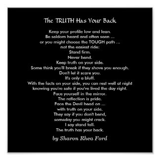 Stand Tall with the Truth by SRF Poster
