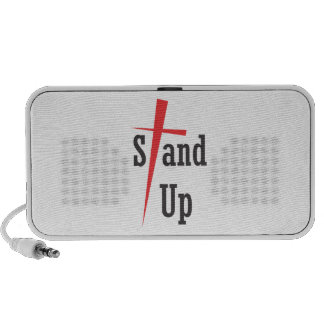 Stand Up - Black Text Portable Speakers