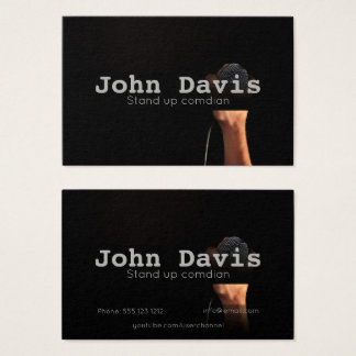Stand up comedian business card