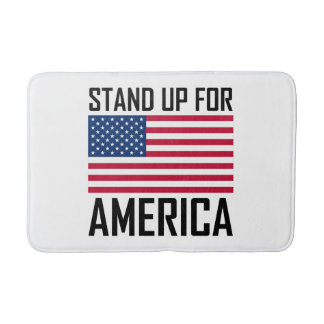 Stand Up For America Flag National Anthem Bath Mat