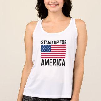 Stand Up For America Flag National Anthem Singlet
