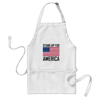 Stand Up For America Flag National Anthem Standard Apron