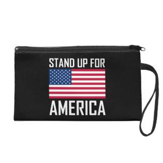 Stand Up For America Flag National Anthem Wristlet