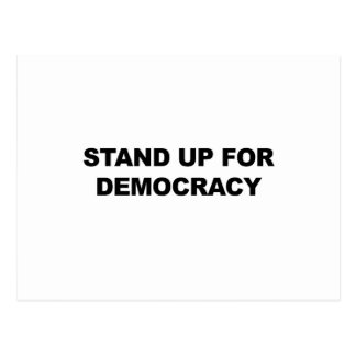 Stand Up for Democracy Postcard