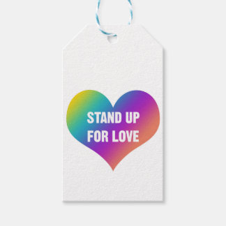 Stand Up for Love (Rainbow Heart) Gift Tags