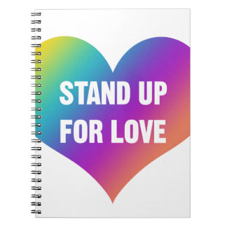 Stand Up for Love (Rainbow Heart) Notebooks