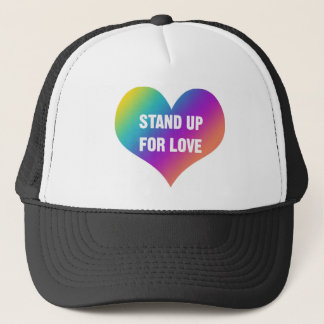 Stand Up for Love (Rainbow Heart) Trucker Hat