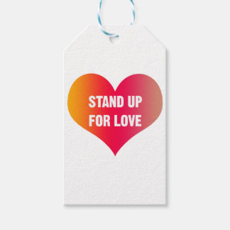 Stand Up for Love (Red-Orange Heart) Gift Tags