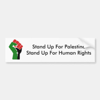 Stand Up For Palestine Bumper Sticker