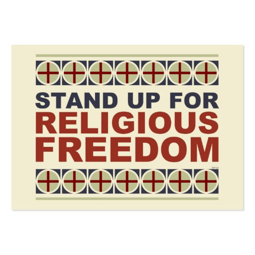 Stand Up For Religious Freedom Business Card Templates
