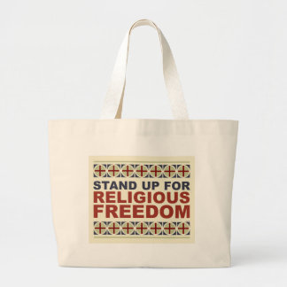 Stand Up For Religious Freedom Jumbo Tote Bag