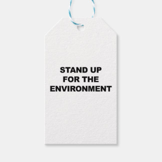 STAND UP FOR THE ENVIRONMENT GIFT TAGS
