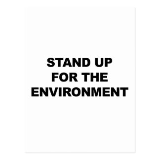 STAND UP FOR THE ENVIRONMENT POSTCARD