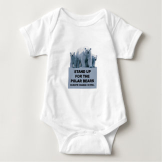 Stand Up for the Polar Bears Baby Bodysuit