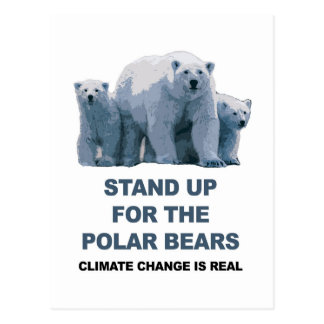 Stand Up for the Polar Bears Postcard