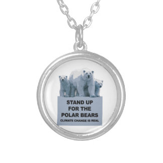 Stand Up for the Polar Bears Silver Plated Necklace