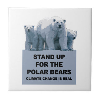 Stand Up for the Polar Bears Tile