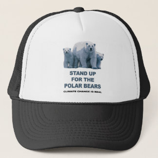 Stand Up for the Polar Bears Trucker Hat
