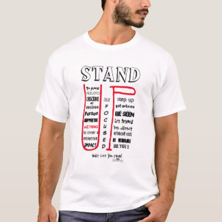 Stand Up Make Sure You Count - Focused (light) T-Shirt