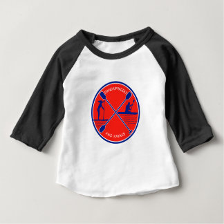 Stand-up Paddle and Kayak Circle Retro Baby T-Shirt