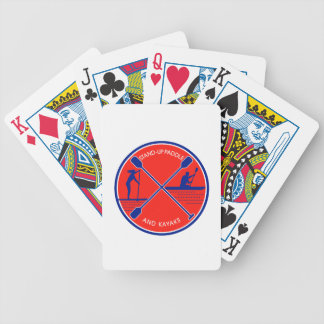 Stand-up Paddle and Kayak Circle Retro Bicycle Playing Cards
