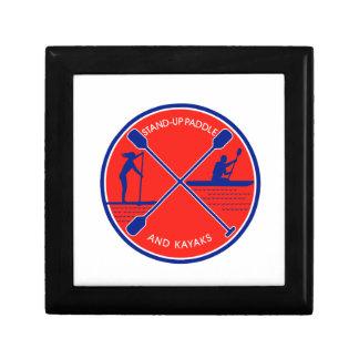 Stand-up Paddle and Kayak Circle Retro Gift Box