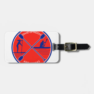 Stand-up Paddle and Kayak Circle Retro Luggage Tag