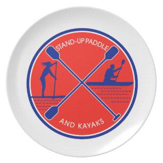 Stand-up Paddle and Kayak Circle Retro Plate