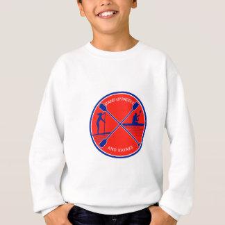 Stand-up Paddle and Kayak Circle Retro Sweatshirt