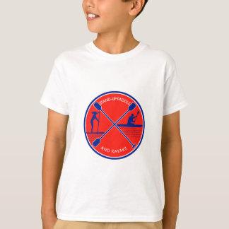 Stand-up Paddle and Kayak Circle Retro T-Shirt