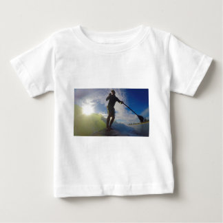 Stand up paddle board surfing a wave baby T-Shirt
