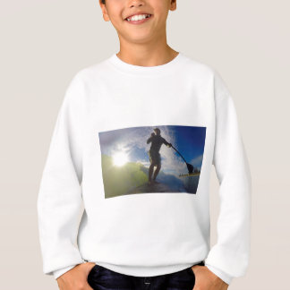 Stand up paddle board surfing a wave sweatshirt