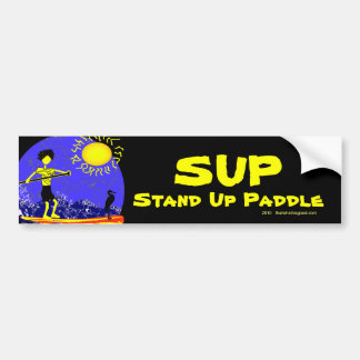 Stand Up Paddle Design Bumper Sticker