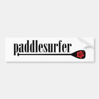 Stand Up Paddle Hibiscus Bumper Sticker