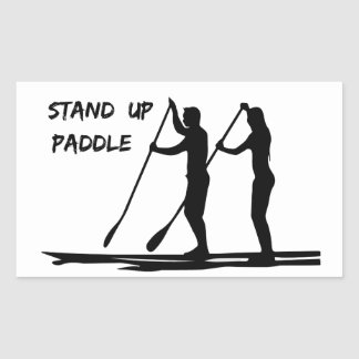 Stand up paddle rectangular sticker