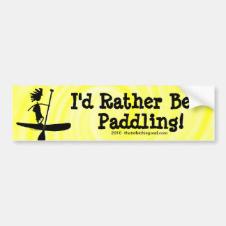 Stand Up Paddle Silhouette Design Bumper Sticker