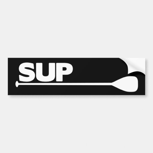 Stand Up Paddle SUP (Dark) Bumper Sticker