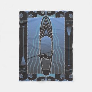 Stand up Paddleboarder Fleece Blanket